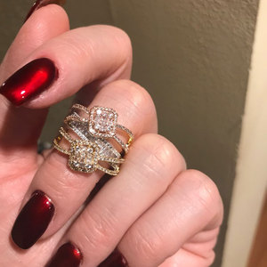Image 3 - GODKI Baguette ตัดแหวน Handmade Rainbow CUBIC Zirconia แหวนแฟชั่น Finger อุปกรณ์เสริมงานแต่งงาน