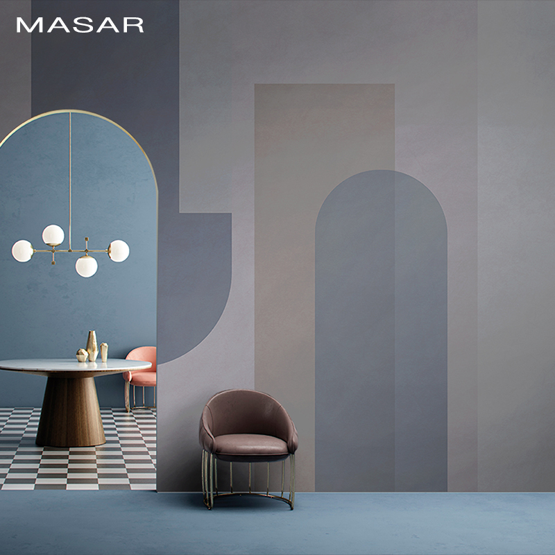 MASAR Simple Creative Murals Flip Against The Wallpaper Bedroom Children's Room Background Wall Wallpaper Time And Space