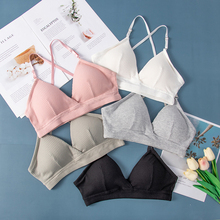 Sexy Women Bra Bralette Lingerie push up bra Cotton flexible Bra For Women Fashion Ins bras Lady Tops Underwear Bralette Hot cheap ECMLN One-Piece Padded Polyester CN(Origin) Wire Free Three Quarters(3 4 Cup) Thin Mold Cup none everyday Solid Adjusted-straps