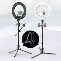 MAMEN 21 inch Selfie ring light 18 inch LED Photography 45cm Lighting video studio For Youtube Live Stream Photo With Tripod