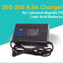 72V 10A 8.5A 20S 24S 87.6V high voltage Smart Charger With LCD Display for lithium ion lifepo4 LTO li-ion lipo lead acid battery