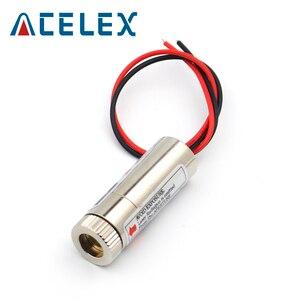 Image 2 - 5mW 650nm kırmızı çizgi lazer modülü odak ayarlanabilir lazer diyot kafa endüstriyel çap 12MM 5V Metal cam lens kafa