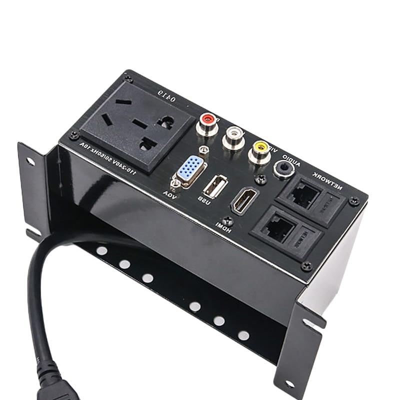 instalação do desktop com hdmi-vídeo audio compatível de usb 3.5mm av duplo rj45
