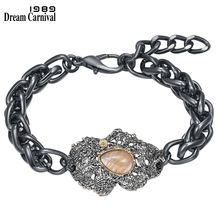DreamCarnival 1989 New Exaggerated Women Bracelet Rough Surface Party Jewelry Strong Character Water Melon Zircon Vintage WB1240