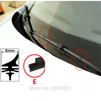 Free shipping Car Wiper Blade Insert Rubber strip (Refill) for BMW X1 X3 E46 E90 E60 E39 E36 F30 F10 X5 E53 G30 car accessories image