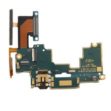 Mainboard Audio Jack Mic Volume Button Flex Cable Repair Part for HTC One M7 801 s 801E 801c 801n Mobile Phone Accessories стоимость
