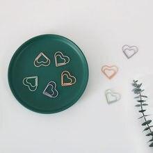 TUTU 20 pçs/set coração Marcador Clipe de Papel Decoração Macaron cor Livro de Nota Decoração Grampo Da Pasta de Papelaria H0474