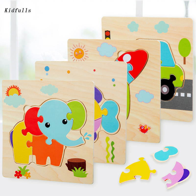 Montessori Toys Educational Wooden Materials Toys For Children Early Learning Preschool Teaching Intelligence Match Puzzle