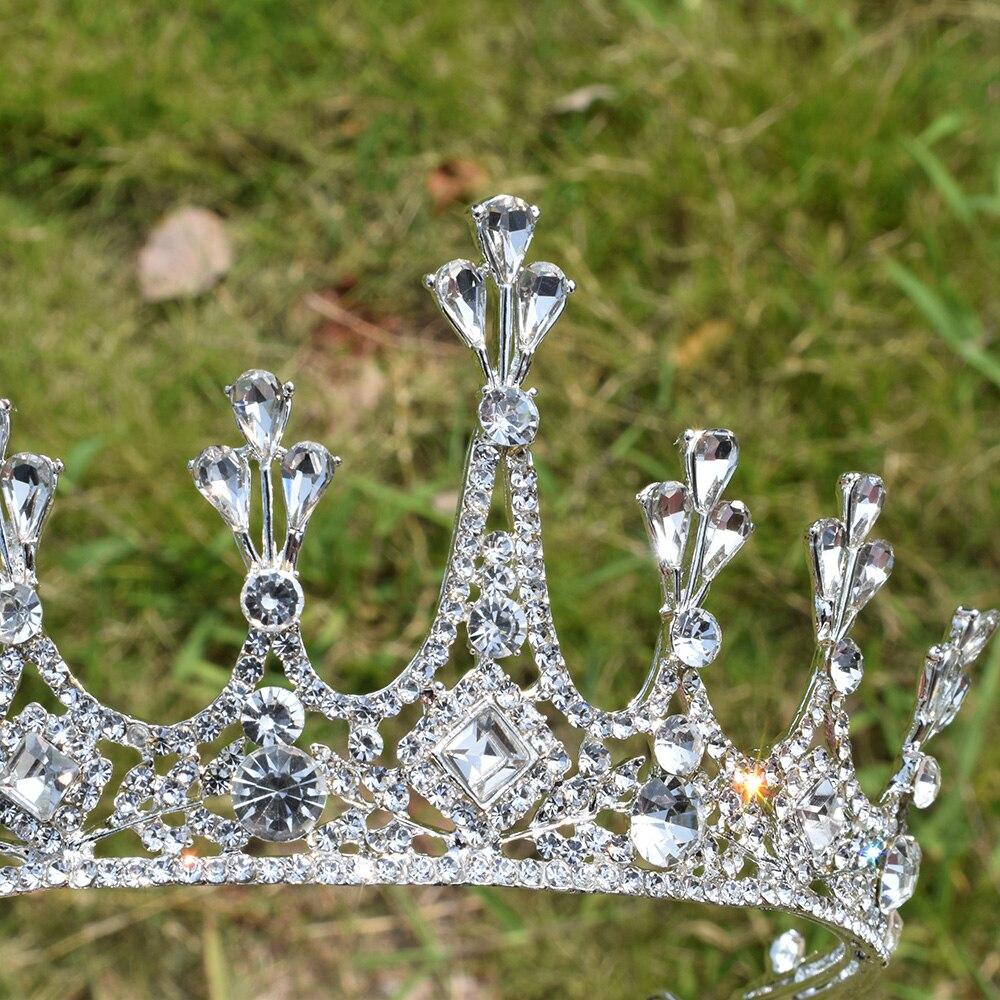 Princess Crystal Tiara Wedding Beautiful Rhinestone Crown Women Hair Elegant Accessories Bridal Head Jewelry Festival Diadem in Hair Jewelry from Jewelry Accessories