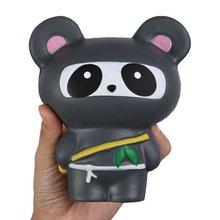 Sleek с медленным восстановлением формы ниндзя мягкая игрушечная панда с медленным восстановлением формы ниндзя панда имитационная модель Давление игрушки