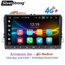 SilverStrong Android10.0 IPS 4G מודם רכב 2Din רדיו GPS עבור פולקסווגן Tiguan גולף MK6 MK5 אופציונלי DSP TPMS DVR