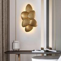 Modern light luxury creative wall lamp TV wall background bedroom headboard decorative lamp creative personality fashion lamp