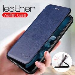 Skórzane etui z klapką do huawei p30 Pro p20 lite portfel przy telefonie pokrywa na cześć 10 światło honer 20 10i 20i P smart 2019 nove 5T coque