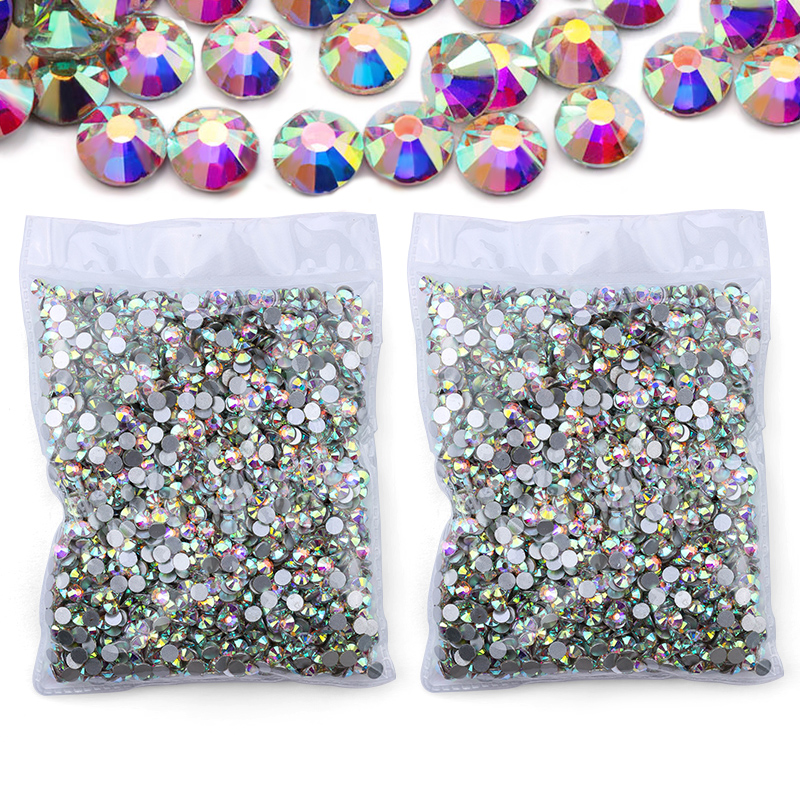 QIAO Bags Shoes Fabric Crafts Nail Rhinestones Diy-Decoration Face-Art Crystal Back-Gems