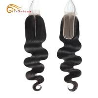 Onicca Kim K Closure 2X6 Body Wave Closure Brazilian Hair Weaving Natural Color Human Hair Lace Closure Middle Part Remy Hair