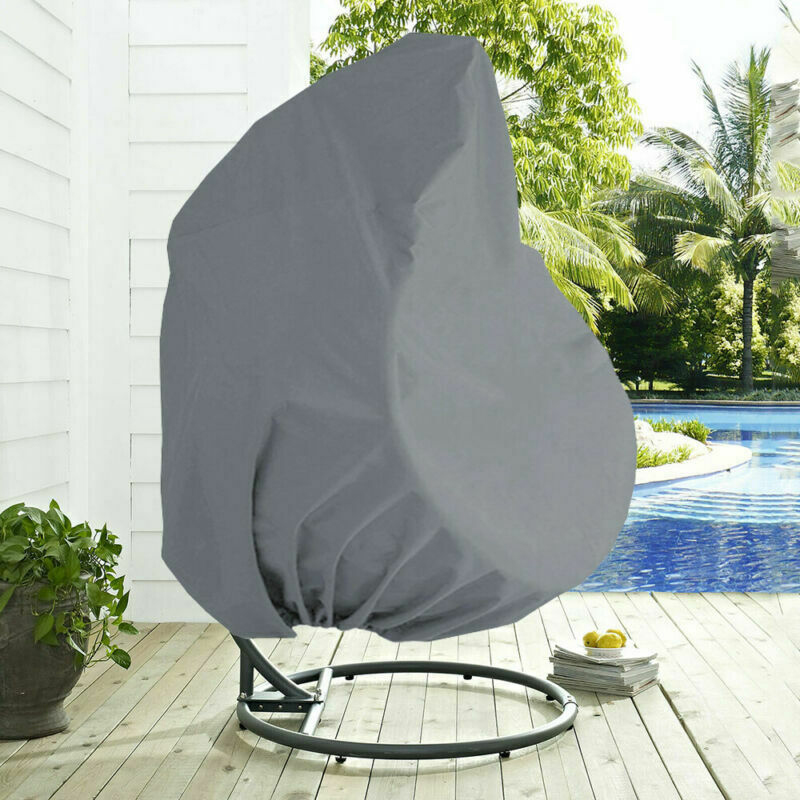 210D Patio Hanging Chair Swing Chair Cover Outdoor Balcony Garden Rocking Chair Waterproof Dust Cover Furniture Protective Cover