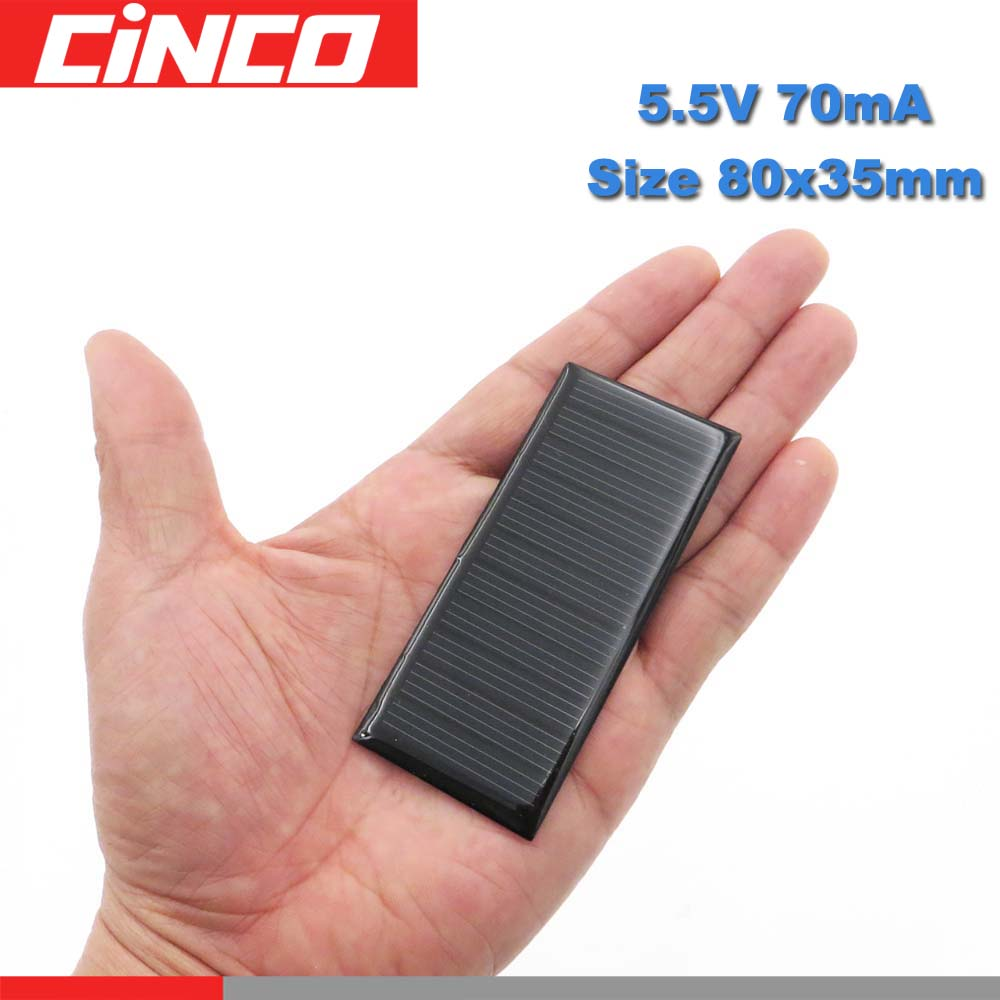 5.5 V 70mA Watts Solar Cells Poly Li-ion Battery Charger Power Bank Voltage LED Lamp Solar Panel 3.7 VDC