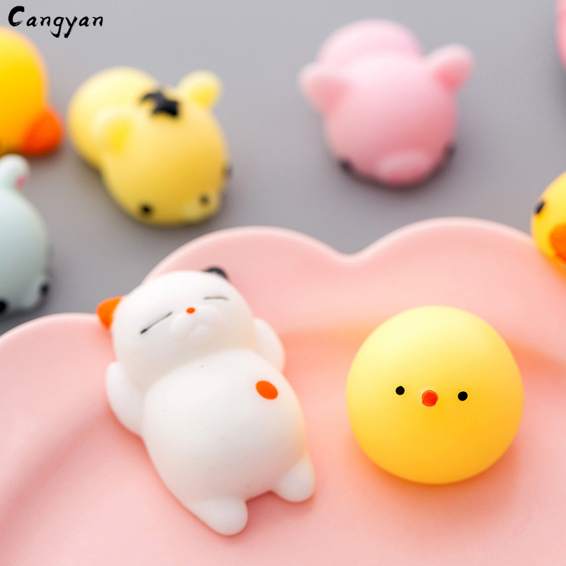 Cat, Bear, Panda, Pig And Other Soft Animal Toys Decompression Ball Soft And Sticky Good Stretch Lovely Gifts Knead