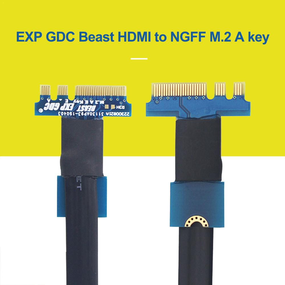 V8.0 EXP GDC Beast HDMI To NGFF M.2 A/E Key Cable 27CM Separate NGFF HDMI Interface Cable Notebook External PCI E Graphics Card