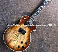 Custom New Electric Guitar,Map pattern stripes Mahogany Body&Rosewood Fingerboard BJLPT 5