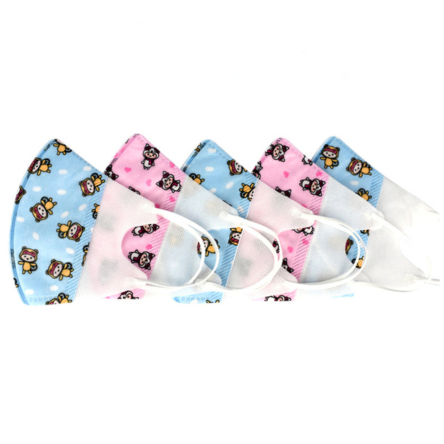 0-3 Years Old Baby Face Mask Washable Cotton Cloth Kids Face Mask Cute Pink Blue Mouth Masks Health Elastic Face Maskes 24h Ship 1