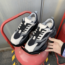 Women Chunky Sneakers Tennis Shoes 2020 Lace-Up Fashion Breathable Mesh Flat Sneakers Casual Shoes Calzado Deportivo Mujer