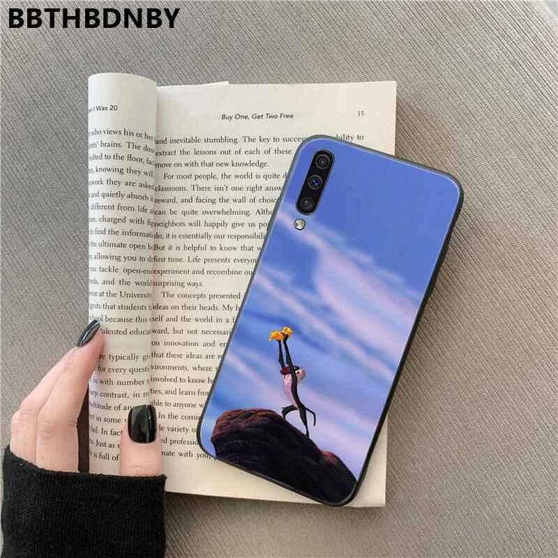 O Rei Leão Para Galaxy A50 fundas Fundas Telefone Preto Macio para Samsung Nota 3 4 5 7 8 9 10 pro A7 2018 A10 A40 A50 A70 J7 2018