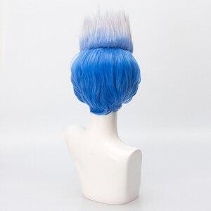 Image 4 - Мужской короткий парик, термостойкий парик из синтетических волос, вечерние парики для Хэллоуина