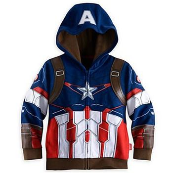 Chłopcy kurtka jesienna kurtka dla chłopców płaszcz dzieci Avengers Iron Man odzież wierzchnia płaszcz dla chłopców odzież kurtka dla dzieci 3 4 5 6 7 8 rok tanie i dobre opinie Moda COTTON Boys Jacket Pasuje prawda na wymiar weź swój normalny rozmiar Cienkie Pełna Cartoon Wełniane Z kapturem