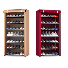 8 Layers Stainless Steel Shoe Rack Home Organizer Kitchen Accessories Cabinet Dust-proof Bathroom Shelves Shoes Storage Rack