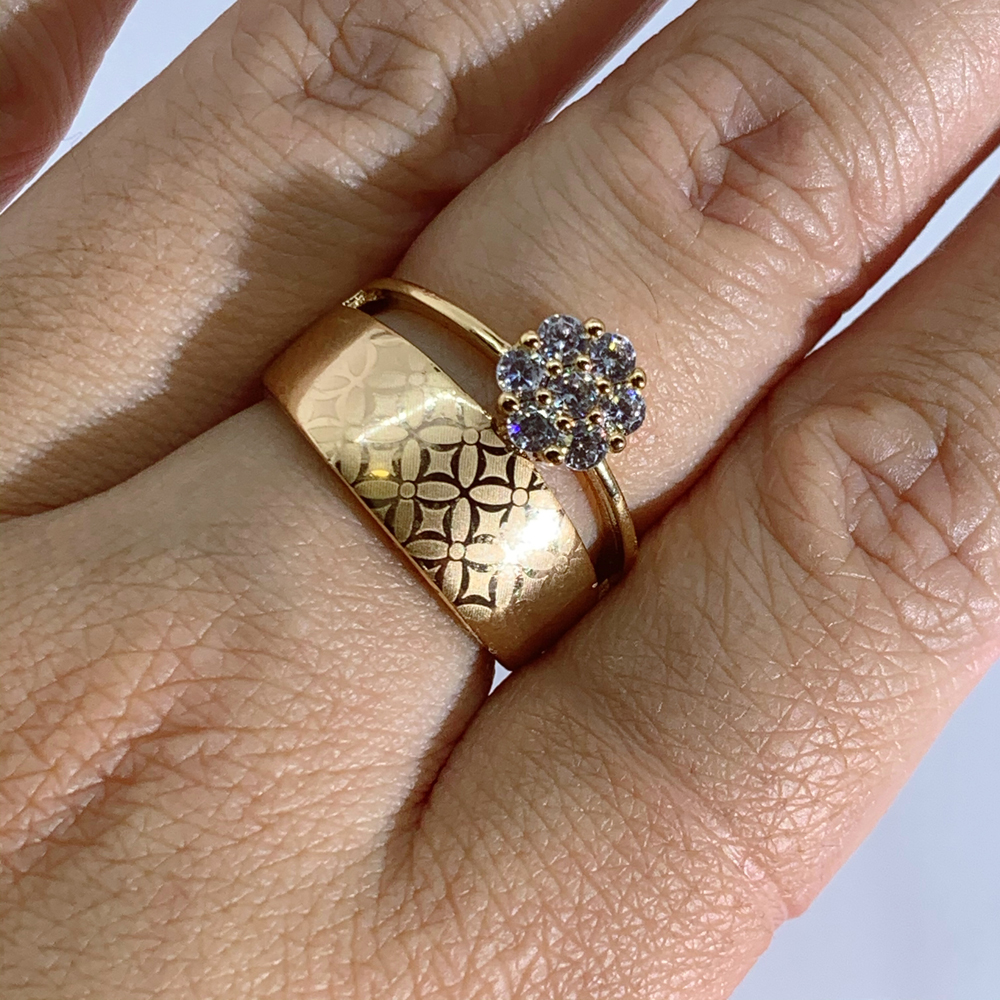 LUALA Shiny Clear Zircon Rose Gold Ring For Women Fashion Square Engagement Party Bride Wedding Luxury Jewelry Bijoux No Fade 2