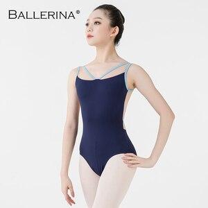 Image 3 - Ballerina Ballet Maillots Voor Vrouwen Yoga Sexy Aerialist Dans Kostuum Mesh Gymnastiek Mouwloze Maillots 2518