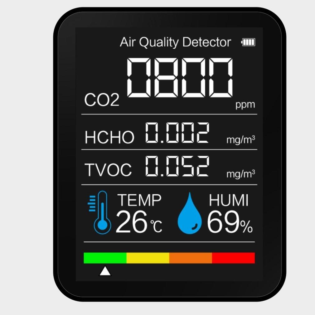 5in1 multifuncional detector de dióxido de carbono