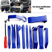 Herramientas de mano para coche, kit de reinstalación de DVD estéreo, embellecedor de Panel de salpicadero Interior de plástico, herramientas de reparación