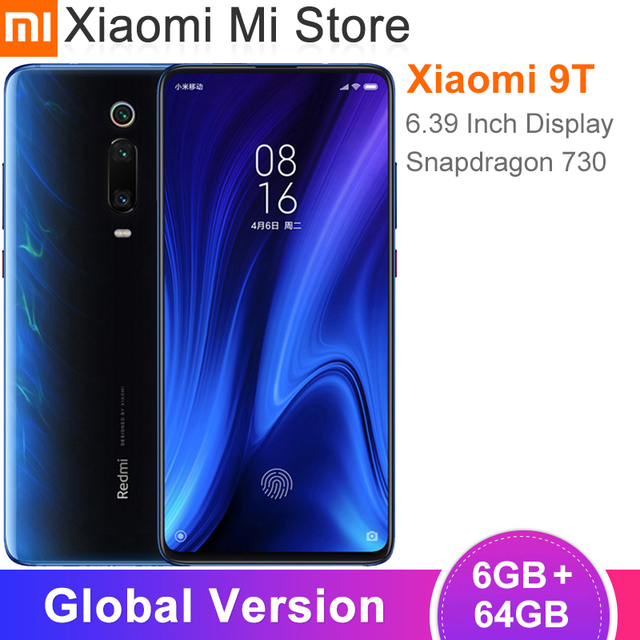 "Global Version Xiaomi Mi 9T Redmi K20 Smartphone 6GB 64GB Snapdragon 730 48MP+20MP 6.39"" AMOLED Display 4000mAh Battery"