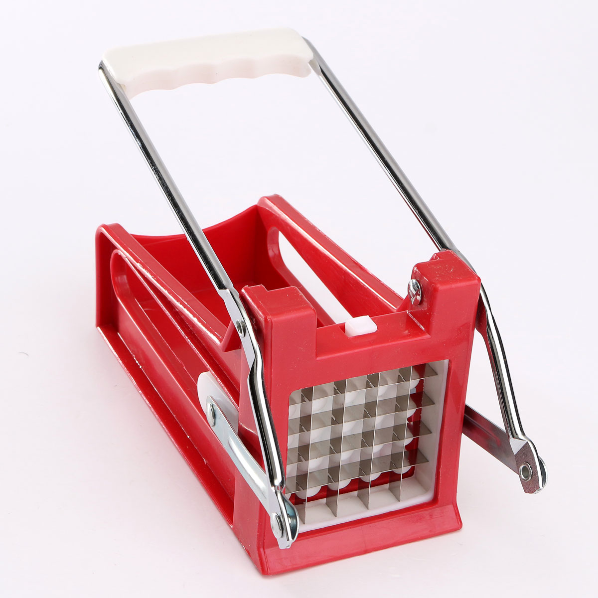 Potato Chips Strip Cutting Machine Maker Slicer Chopper 2 Blades Kitchen Gadgets Stainless Steel French Fries Cutters|Manual French Fry Cutters| |  - title=