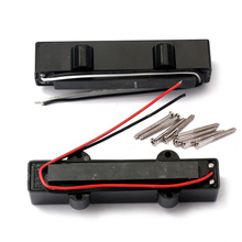 5 String Electric Bass Pickups Bridge Neck Pickups Set for Jazz Bass Guitar Open Style Guitar Parts and Accessories GMB08 Bla