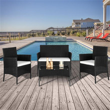 Furniture Arm-Chairs Sofa-Set Coffee-Table Rattan Love-Seat Outdoor 2pcs 1pc Warehouse