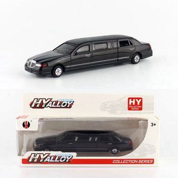 Diecast Metal Toy Model/Lincoln Limousine/Gift For Children/Educational Collection/Doors Openable image