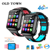 4G GPS Wifi Location étudiant/enfants montre intelligente téléphone H1/W5 système Android App installer Bluetooth Smartwatch 4G carte SIM(China)