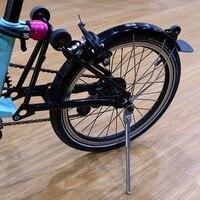 Folding Bike Parking Rack Titanium Kickstand for Brompton & Birdy Parking Rack Support Bike Parts Lightweight Accessories