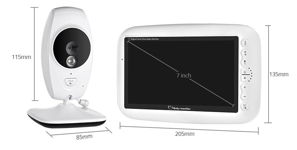 7 Polegada monitor do bebê sem fio