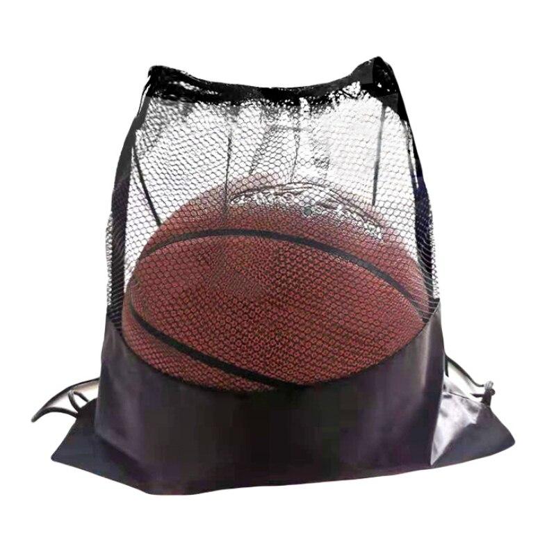 Портативная Сетчатая Сумка для футбола, рюкзак для хранения футбольных мячей-1
