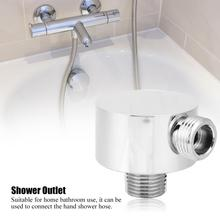 G1/2 Brass Shower Hose Connector Round Shape Outlet Elbow Bathroom Hardware Accessories