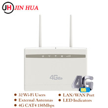Unlocked 2.4g 4G CPE Wifi Router 300Mbps Wireless/Mini Wi fi Router Gateway Plus Antenna PK Huawei B525 B525S-65a Tenda Router