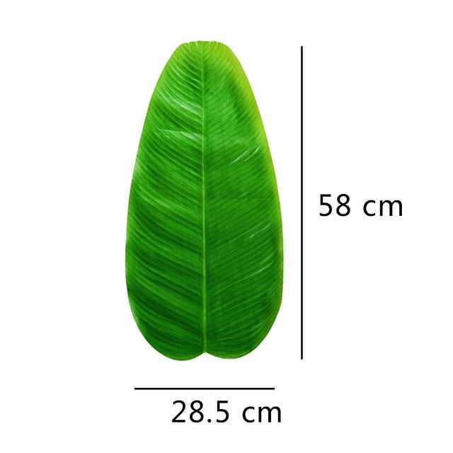 58 centimetri di trasporto Artificiale di Foglie di Banano Da Tavolo Zerbino Foglia Verde Pianta di Simulazione Posto Zerbino Hawaiian Party Desktop Tropicale Fogliame Decor
