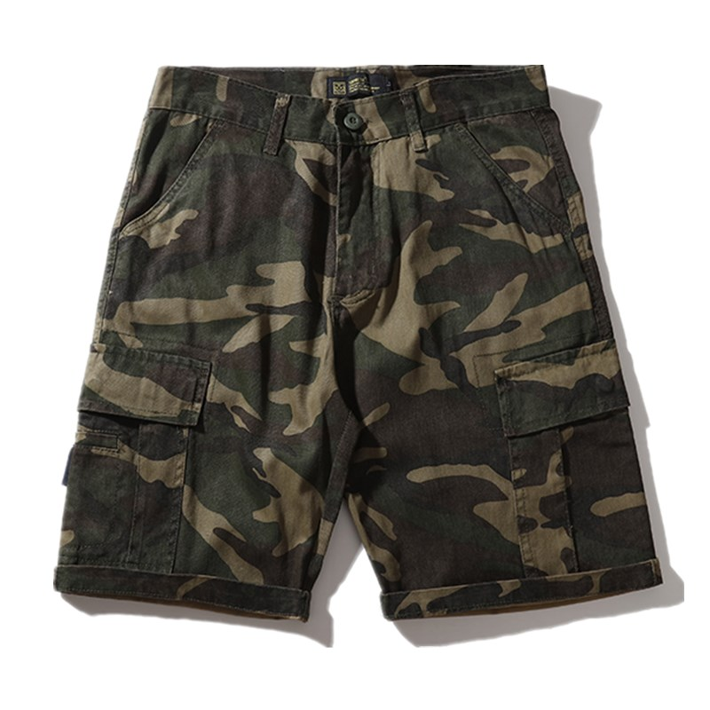Straight Men Shorts Cargo  Fashion Casual Baggy Shorts Camouflage Camo Cotton Vintage Erkek Giyim Short Sweatpants XX60MS