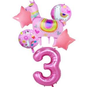 """Мультфильм Животных Альпака алюминиевые воздушные шары из фольги, с мультяшным животным """"ламы воздушными шарами украшения на день рождения Свадебные сувениры подарки, воздушные шары"""