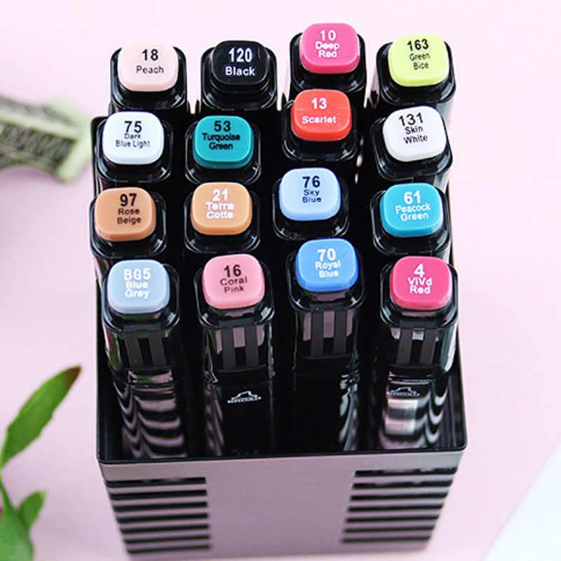 TOUCHFive двойной головкой маркеры манга Дизайнерские товары для рукоделия; черные туфли на основе жирных спирт маркеры фломастер для скетчей Рисовальщик