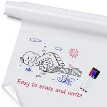 ホワイトボードステッカー消去可能な自己粘着書き込みメモボード取り外し可能な壁のオフィス学校ホーム100 × 60センチメートル